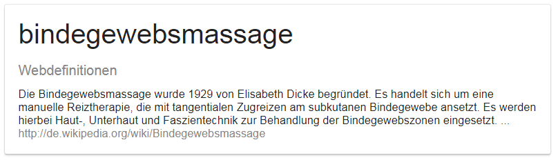 Bindegewebsmassage Lymphmassage